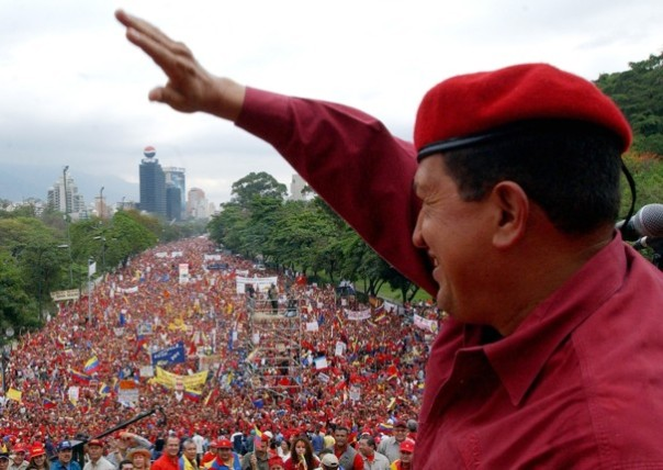 Venezuelan President Hugo Chavez, the greatest revolutionary leader of our time.